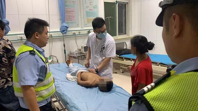 邯郸6岁男童意外导致头部受伤 交警紧急救助