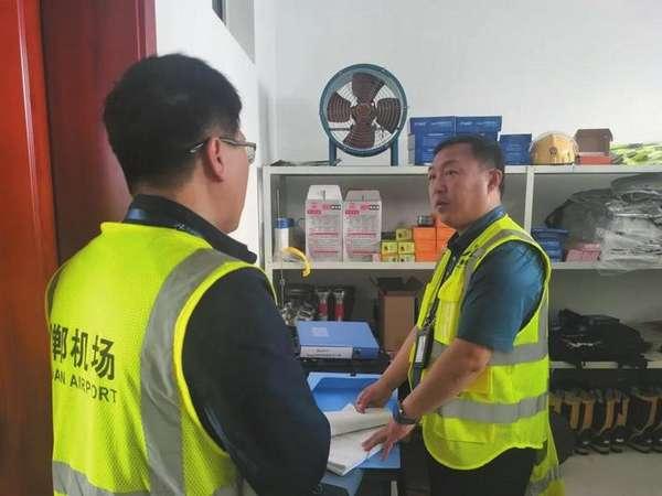邯鄲機場舉行消防集訓成果展示